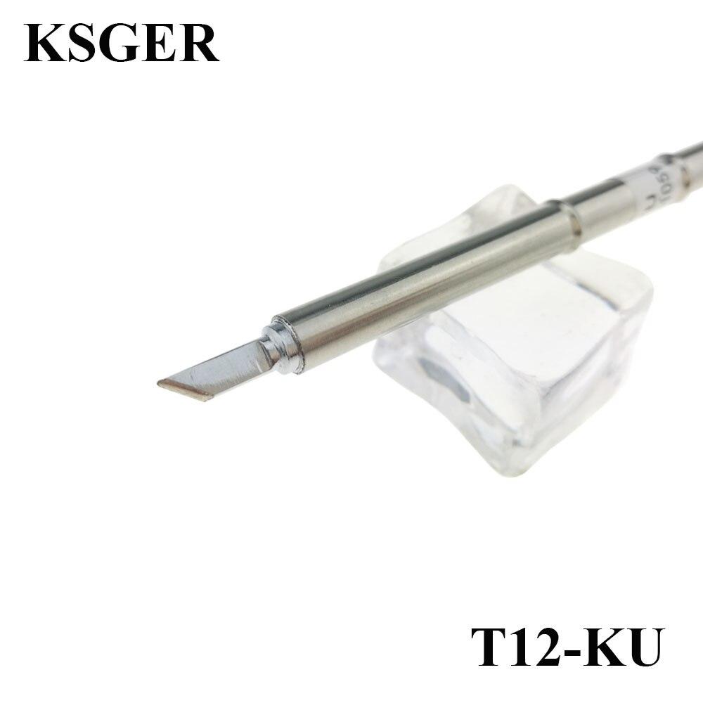 Электронные ПАЯЛЬНЫЕ НАКОНЕЧНИКИ KSGER T12, 220 В, сварочные инструменты для припоя с металлическим наконечником серии T12-KU, паяльная станция 70 Вт 200c-450c