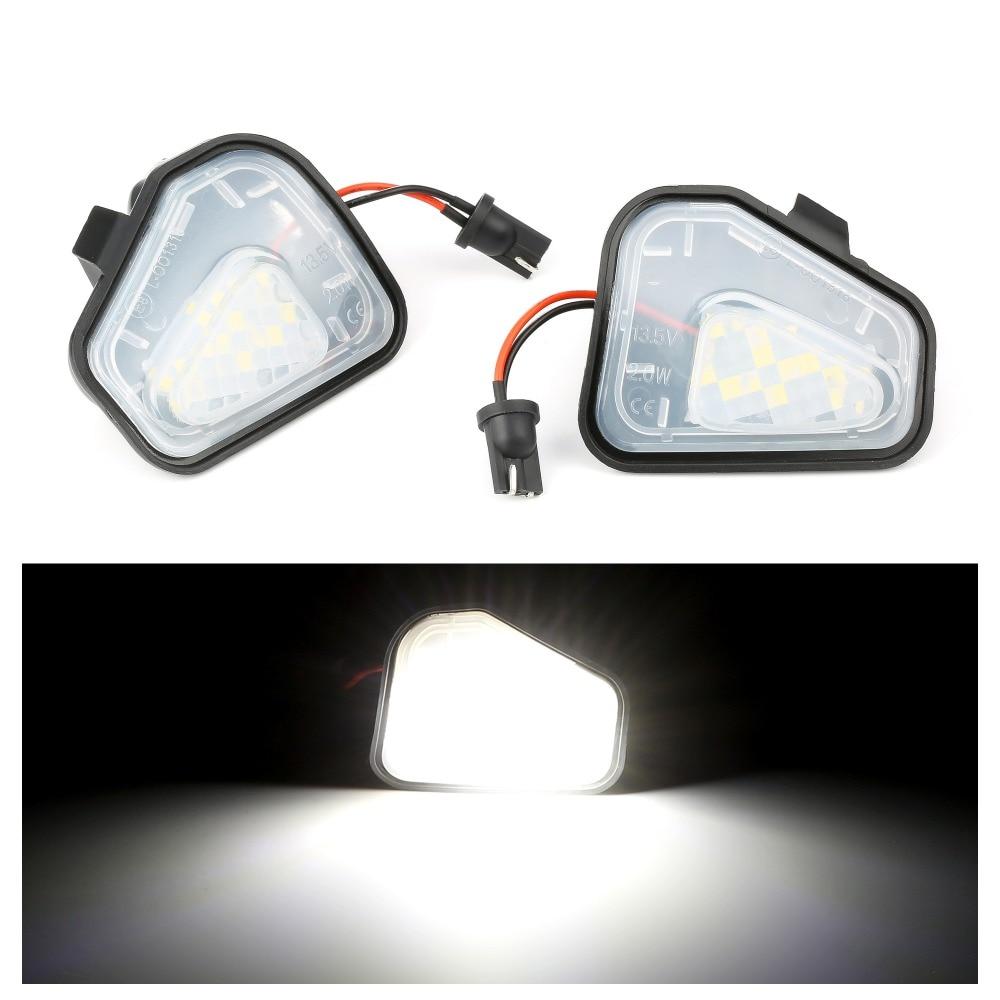 2 шт. Canbus LED боковое зеркало лужа лампы для Фольксваген Джетта 10-15/EOS 09-11/Passat B7 2010 ~/CC 09-12/Scirocco 09-14