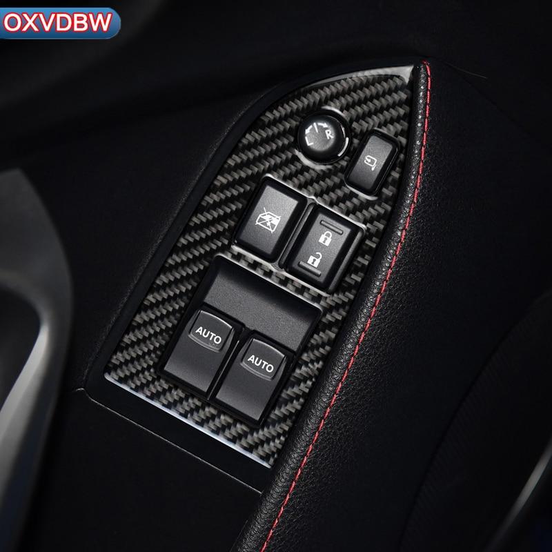 Auto Innen Carbon Faser Windows Control Panel Dekorative Rahmen Aufkleber Für Subaru BRZ Toyota 86 LHD RHD zubehör 2013- 2017