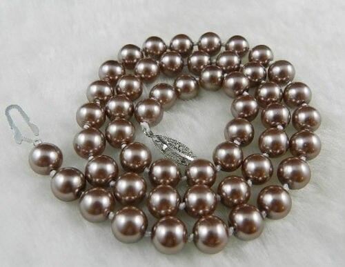 """RHJ00142 Champagne Südsee Shell Perlen Halskette 18"""""""