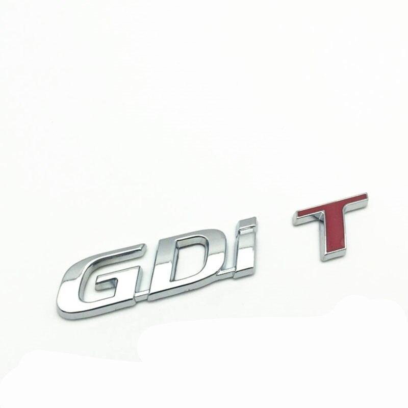 TGDI GDI T Logotipo emblema Traseiro adesivo Emblema Auto trunk Decal para Carros Universais para Volvo V40 S60 T5 T6 AWD para Hyundai