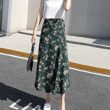 Женская Длинная пляжная юбка для лета, с цветочным принтом