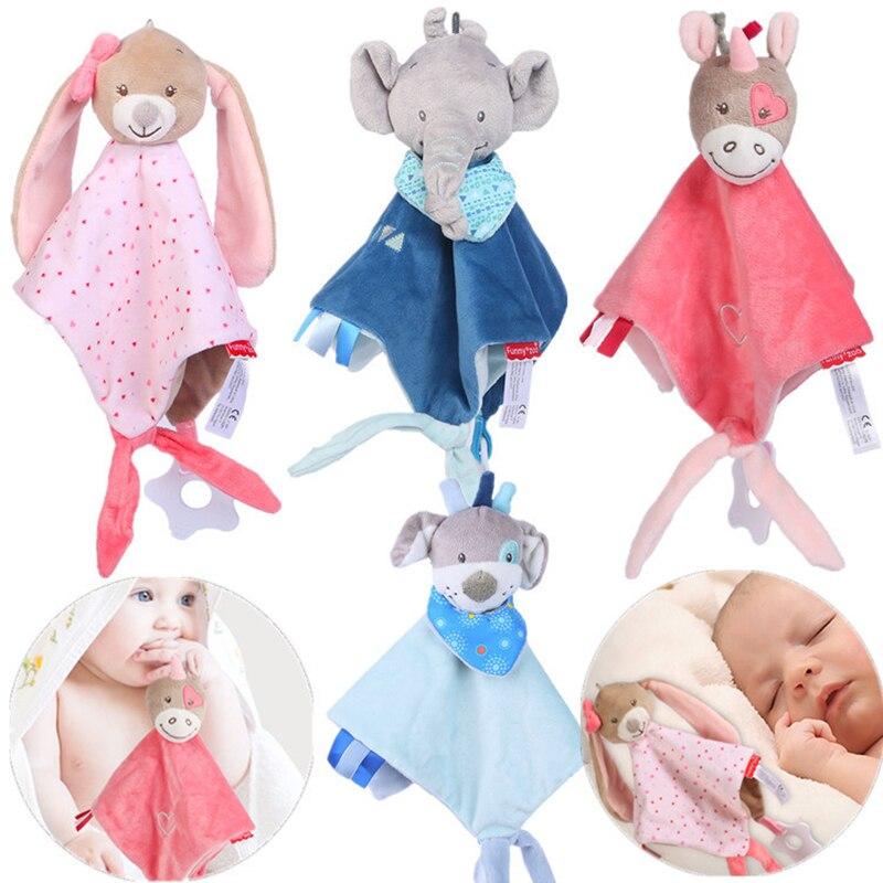 Мягкое Полотенце для новорожденных, детские игрушки, животные, подарок для младенцев, мягкое полотенце, развивающие плюшевые игрушки