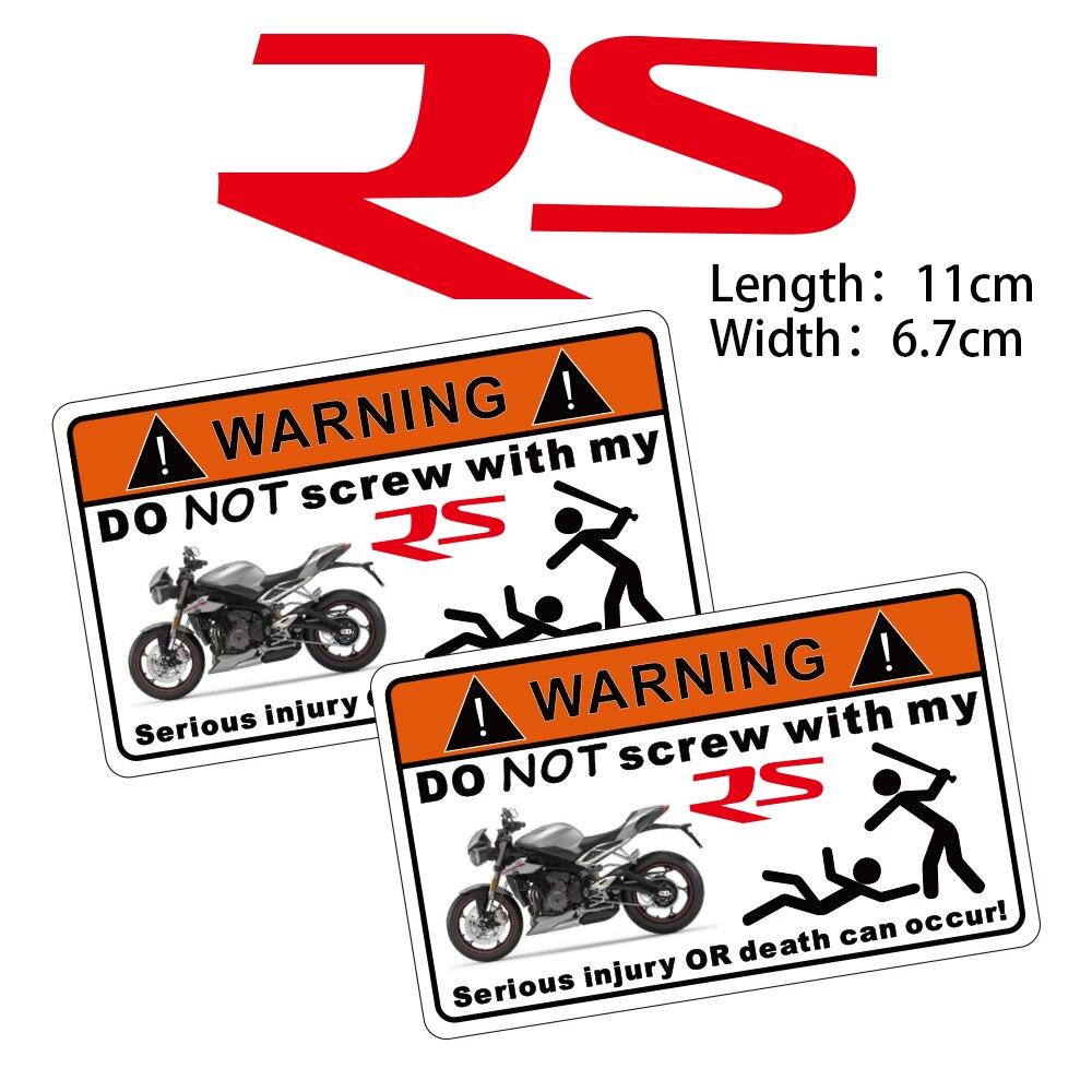 KODASKIN 2 шт. не винтовая Предупреждающая Наклейка для Triumph Street Triple RS