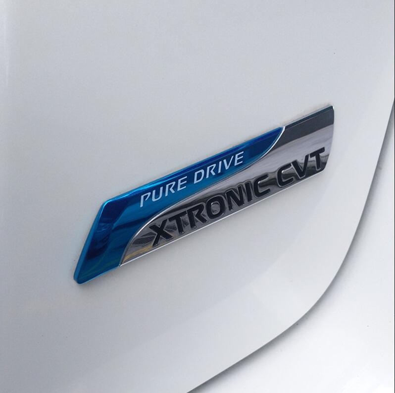 PURE DRIVE XTRONIC CVT 3D Car emblem Badge for Nissan Altima auto car sticker decals sapphire 1pcs