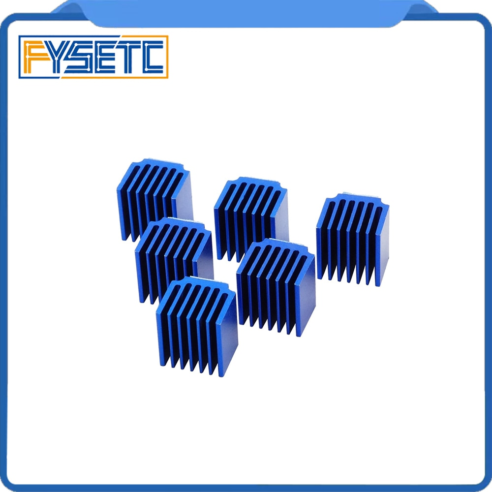 10 unids/lote piezas de impresora 3D controlador de Motor paso a paso disipadores de calor bloque de refrigeración disipador de calor para TMC2100 TMC2208 TMC2130 LV8729 DRV8825