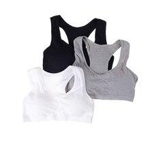 1PC sous-vêtements sans armature coton classique gilet soutien-gorge respirant jeune fille soutien-gorge pour fille étudiant vêtements de couchage couleur unie