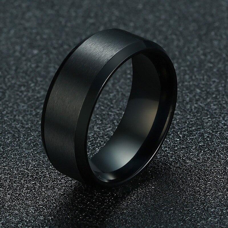 ZORCVENS 2020 Новая мода 8 мм классическое Кольцо мужское 316L из нержавеющей стали ювелирные изделия обручальное кольцо для мужчин