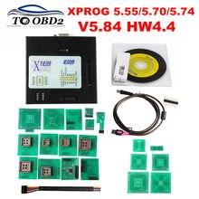 Plus récent XPROG V6.12 V5.86 V6.17 Firmware V4.4 ajouter plus dautorisation boîte en métal noir XPROG-M V5.55 V 5.86 6.17 X-PROG V 6.12