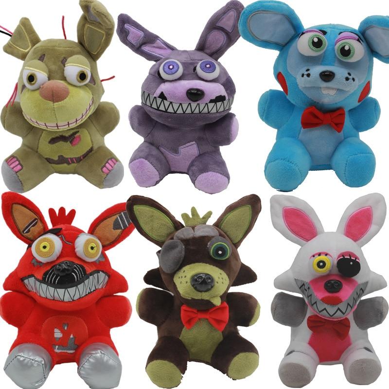 FNAF плюшевые игрушки, 18 см, плюшевые игрушки Five Nights At Freddys 4, медведь Фредди, мышь Foxy, Бонни и Чика, мягкие плюшевые игрушки, кукла для детей, под...