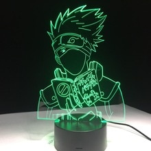 Nouveau Dragon Ball Naruto lampe LED nouveauté lumières acrylique 3D lampe 7 changement de couleur USB bébé sommeil veilleuse livraison directe