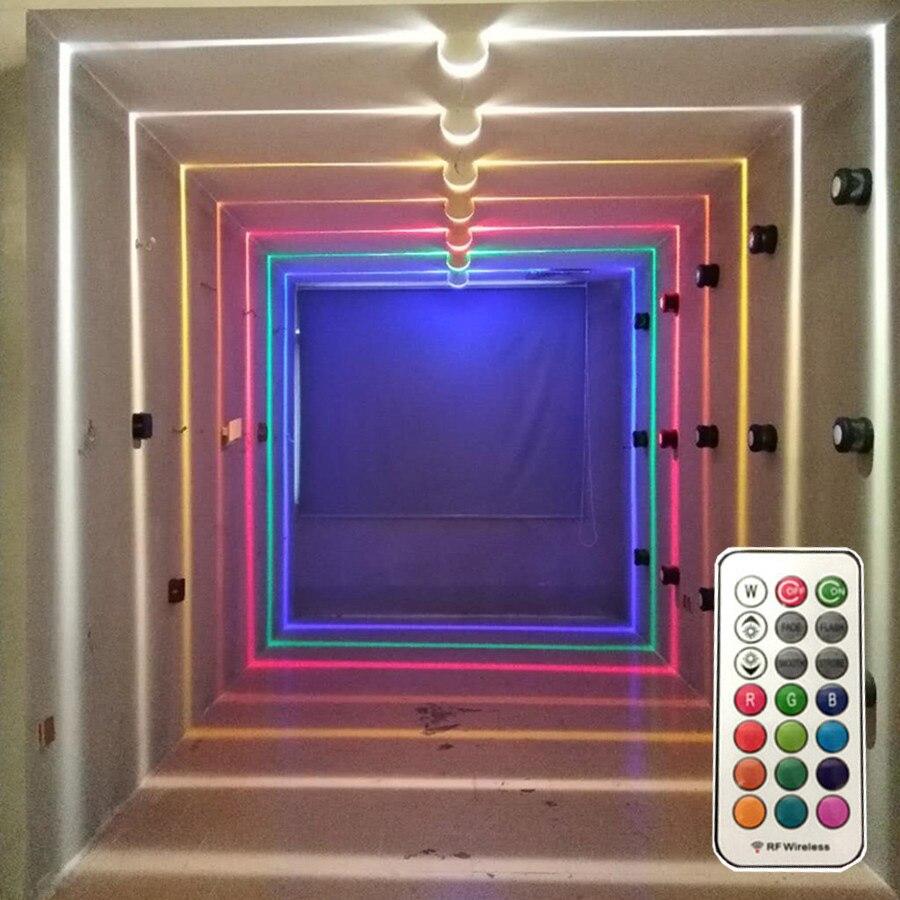 Thrisdar 10W RGB Led fenêtre porte cadre applique murale avec hôtel à distance KTV Restaurant Spot lumière allée couloir Ray liner applique murale