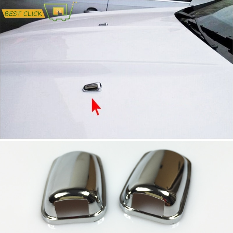 Boquilla de pulverización de agua para limpiaparabrisas delantero cromado para Ford Focus MK3 Mondeo MK4