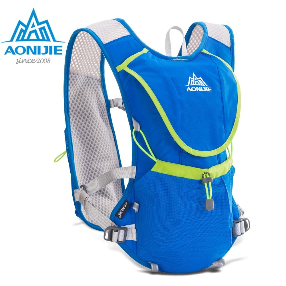 AONIJIE E883 Paquete de hidratación mochila bolsa chaleco arnés vejiga de agua senderismo Camping correr maratón carrera deportes 8L