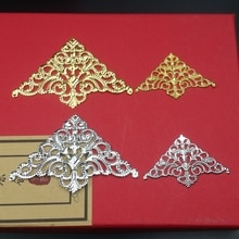 20pcs 75mm Wholesale FiligreeTriangle  crafts  Hollow Embellishments Findings,Jewelry Accessories Br