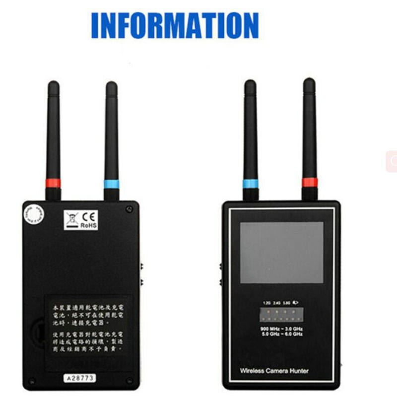 Full band 1.2 GHz - 2.4 GHz - 5.8 GHz Wireless Camera Hunter / Wireless Camera Sweeper / Hidden Camera Detector Free Shipping enlarge