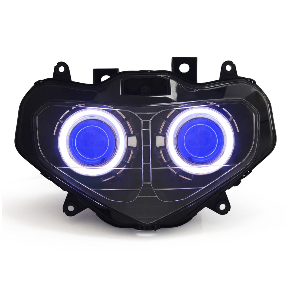 KT دراجة نارية LED مجموعة مصابيح أمامية لسوزوكي GSXR750 GSX-R750 2001 2002 2003 كشافات أمامية