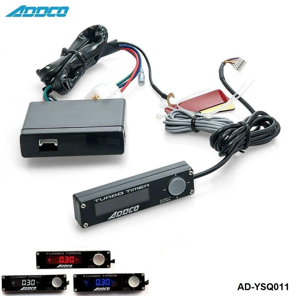 ADDCO nowy uniwersalny 3 kolor niebieski/czerwony/biały w jednym cyfrowym wyświetlaczu LED Blox Style Auto Turbo przekaźnik czasowy kontrolery AD-YSQ011