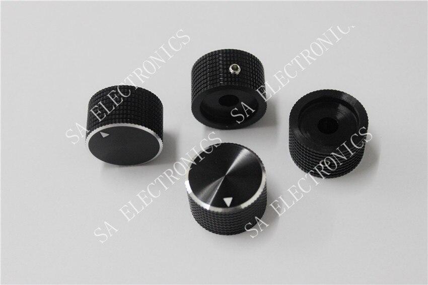 BELLA-مقبض مقياس الجهد ، مصنوع بالكامل من الألومنيوم ، أسود ، ثقوب بقطر 6 مللي متر 6.4 مللي متر 25 مم × 15 مم ، 50 قطعة/دفعة