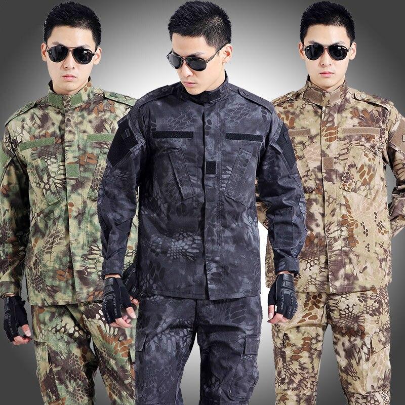 Ejército táctico Militar Uniforme de combate trajes de camuflaje hombres ropa táctica militar Uniforme de caza Uniforme