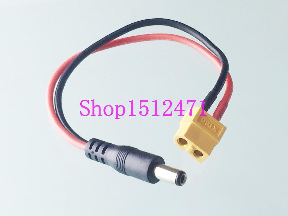 Адаптер питания постоянного тока 1pce XT60 Female to 5,5x2,1 мм Male для зарядного устройства Lipo