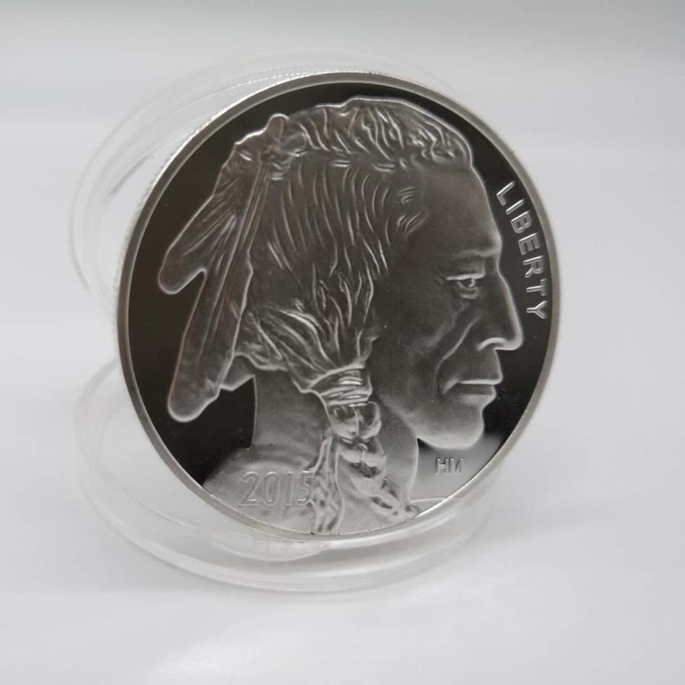 2015 индийские/Буффало бу 1 унций. 999 серебряные круглые-лимитированные США сделанные американские монеты Прямая поставка