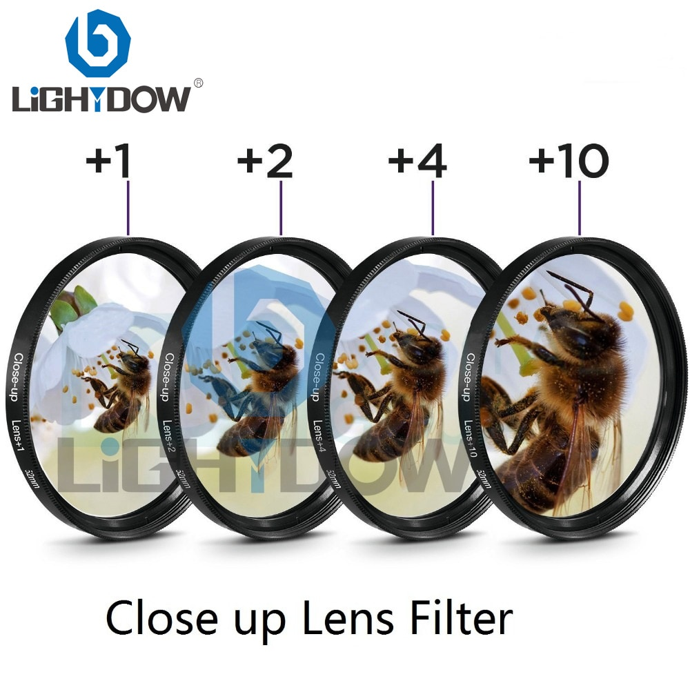 pro1 d super slim wide band protector filter for cameras 55mm Lightdow Macro Close Up Lens Filter +1+2+4+10 Filter Kit 49mm 52mm 55mm 58mm 62mm 67mm 72mm 77mm for Canon Nikon Sony Cameras