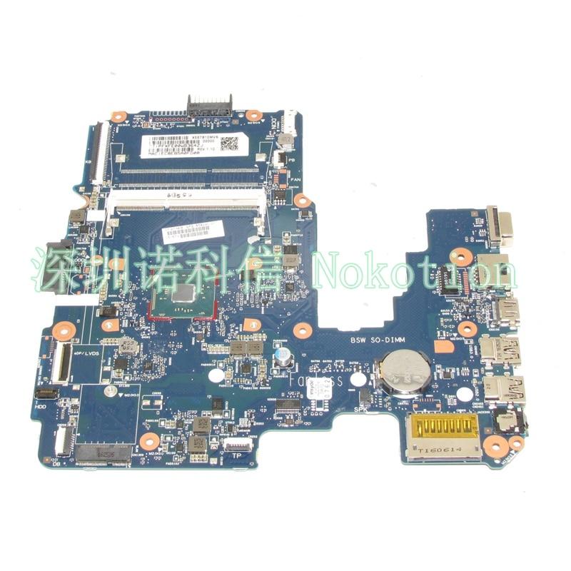NOKOTION 858040-001 لوحة رئيسية لأجهزة HP الكمبيوتر المحمول 14-AM 6050A2823301-MB-A01 اللوحة الرئيسية يعمل N3060 وحدة المعالجة المركزية على متن الطائرة