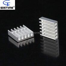 100 pièces LOT 14mm 14x14x4mm aluminium adhésif dissipateur thermique pour VGA CPU GPU RAM IC refroidissement