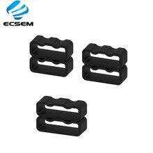 Lazo de goma de silicona ECSEM tamaño 20mm/21mm/22mm para correa de reloj inteligente Correa antideslizante hebilla de seguridad de goma color negro universal