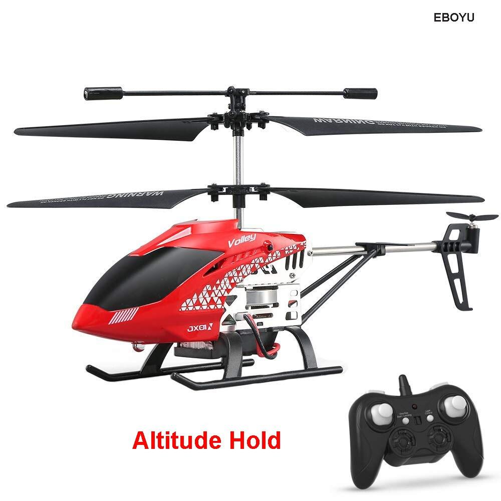 JJRC JX01 2,4 GHz 3.5CH Gyro helicóptero de aleación de Control remoto RC helicóptero Drone con Attitude Hold luz LED una tecla Off/Land RTF