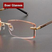 Lunettes à monture sans monture pour hommes   Lunettes, Spectacle de myopie, Prescription optique, lunettes en titane pur, lunettes pour les yeux 097