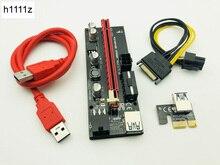 60 CM VER009S PCI-E Riser Card 009 S PCI Express 1X 16X 4Pin 6Pin SATA Molex puissance USB 3.0 câble pour ETH EOS Bitcoin Miner Mining