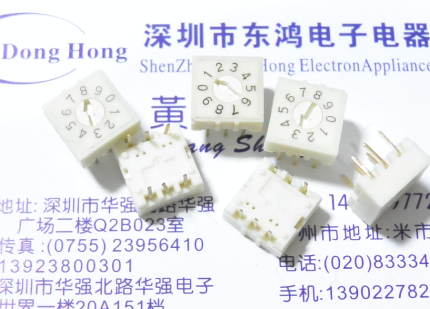 5 TEILE/LOS DIP Taiwan runde 0-9/10 bit 8421C encoding schalter, RV3 rotary kippschalter, 33 pin