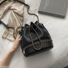 Women's New Fashion Small Fragrance Chain Bag Pu Leather Shoulder Messenger Bag Small Square Bag Buckle Bag  2019