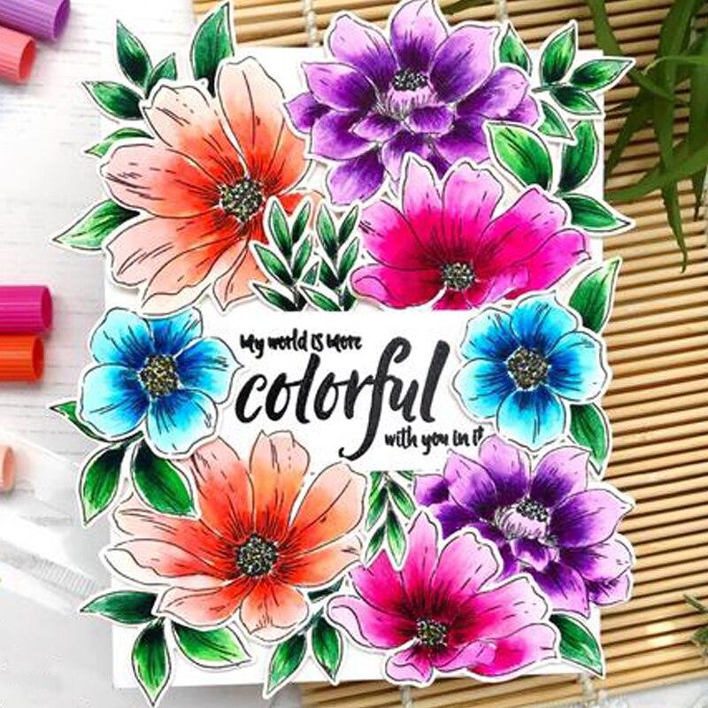 Perfectamente perfecto sello de silicona transparente de flor/sello para DIY scrapbooking foto tarjeta decorativa para álbum sellos transparentes 4x6