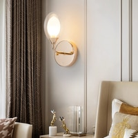 DONWEI Modern Simple Wall Light 85-265V Glass Bedside Reading Wall Lamp Bedroom Wall Lighting Contemporary Retro wall Lighting