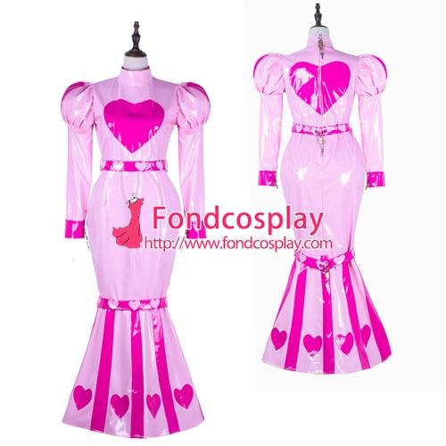Sissy maid pvc dress lockable Uniform cosplay costume Tailor-made[G2255]