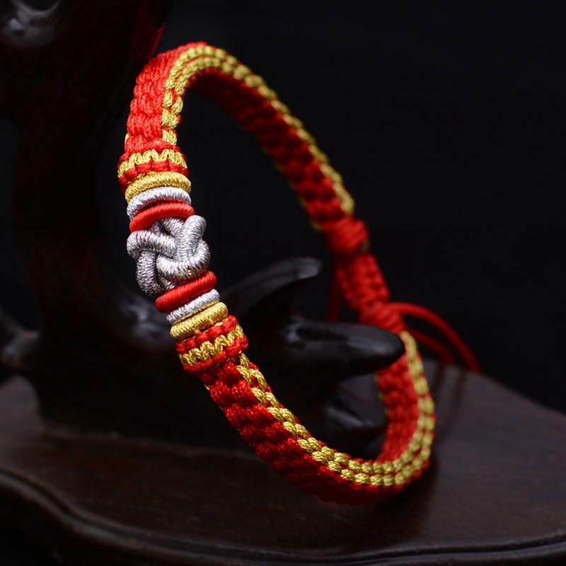 LKO пара браслет удача китайский узел для мужчин и женщин браслет Национальный Стиль тайская Ручная Веревка Бесплатная доставка