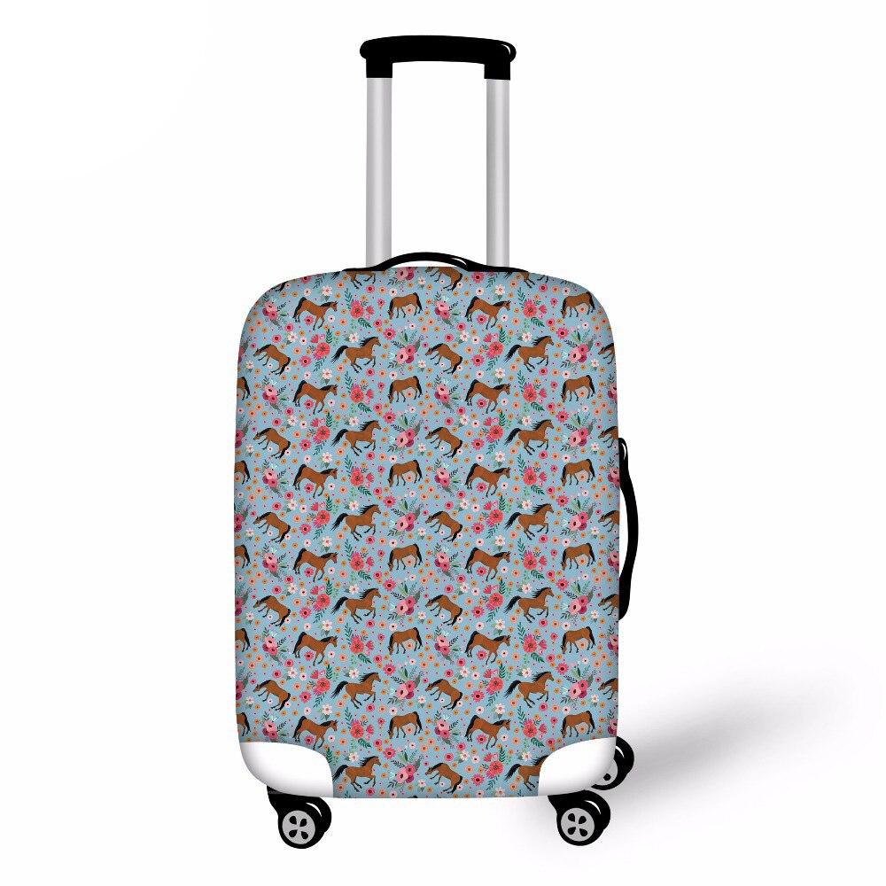 Funda de equipaje Noisydesigns para Elástico grueso de caballo para maleta de 18-30 pulgadas, funda protectora para maleta, accesorio de viaje