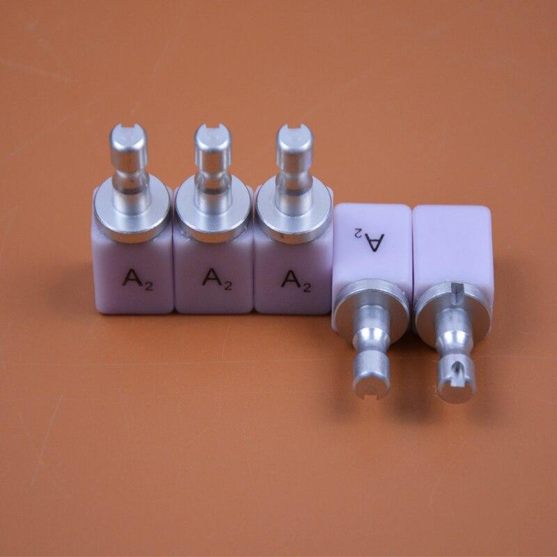50 piezas A1 A2 alto translúcido Dental de litio deslicato bloques Emax vidrio cerámica Bloque para el CEREC Dental litio Dislicate