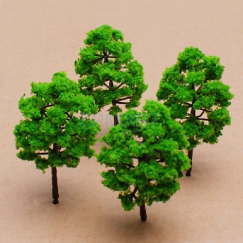 Juego de tren de árbol a escala 1/150, bañadores de plástico con paisaje HO N - 10 Uds
