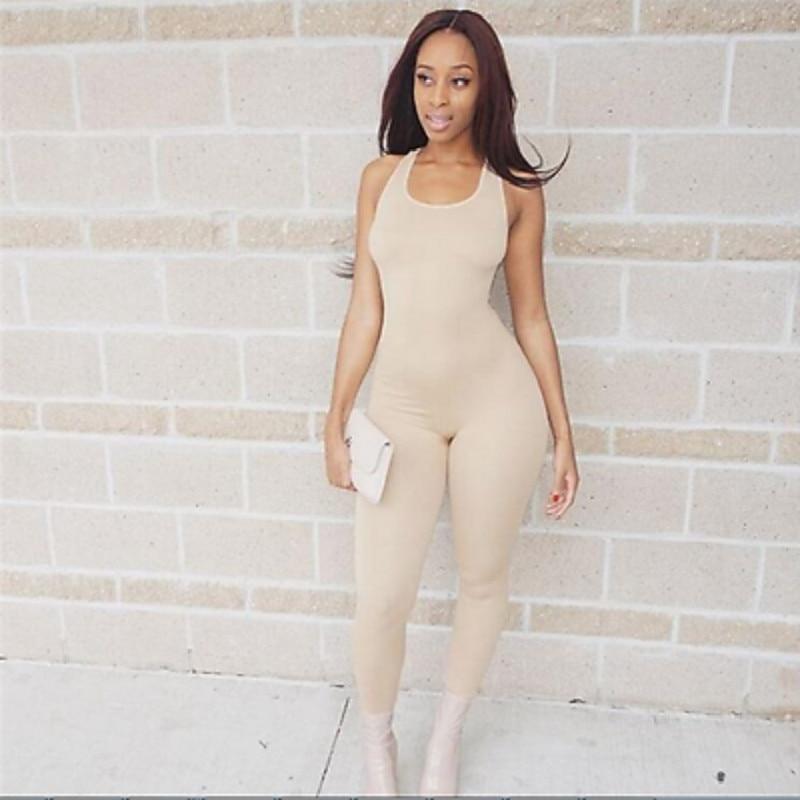 Women Casual Fitness Bodycon Pants 2019 Lady Sportswear Tight Jumpsuit Trousers