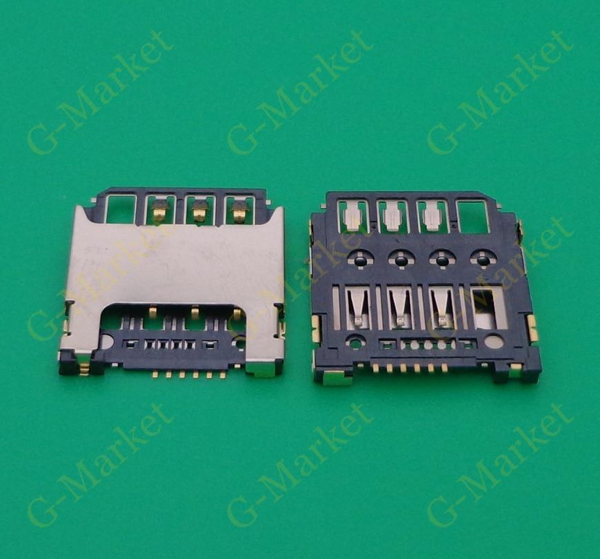 10-100 unids/lote tarjeta Sim lector titular conector hembra de ranura para samsung Galaxy s4 mini i9195 i9190 i9198 s7568i s5310 S5312