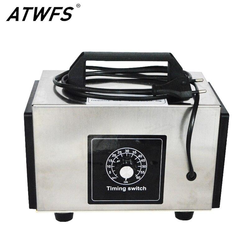 atwfs ionizador de ar ozoneozone gerador 220v 20g 10g hora purificador ozonizador