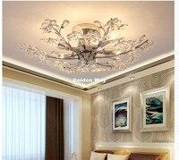 Newly Modern Crystal Ceiling Lamp For Bedroom Creative Design Home Decoration LED Lighting Fixtures LED Lustres De Cristal Lamp