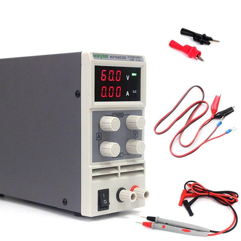 Alimentation dénergie portative de cc de commutateur daffichage de LED 60 V 2A monophasé réglable 110 V/220 V 50/60Hz alimentation de laboratoire déquipement