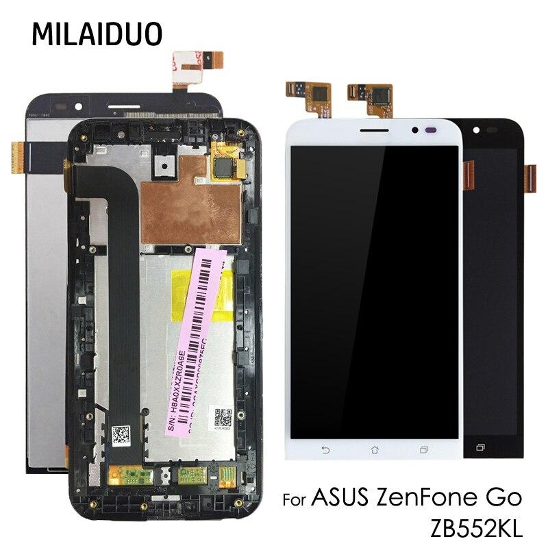 "Pantalla LCD para Asus Zenfone GO ZB552KL X007D 5,5 ""Pantalla táctil piezas de repuesto digitalizador Asamblea negro No/con marco"