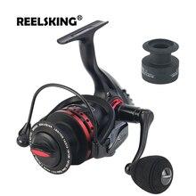 REELSKING 10 kg MAX Drag spinning reel with extra spool 1000-7000 series Freshwater fishing reel
