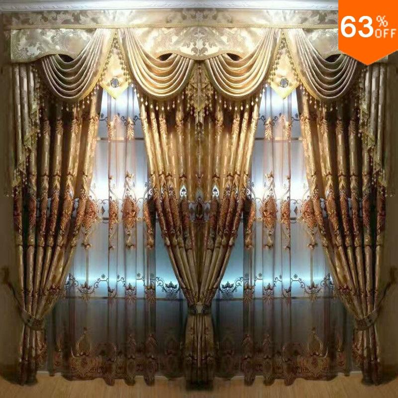 2017 woonkamer fluwelen Embroid oogje drape extreme Luxe Baroco hollowout Baroco stijl hierarch draperie ontwerp venster 2.5 M